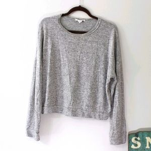 Caution to the Wind Heather Grey Sweater L